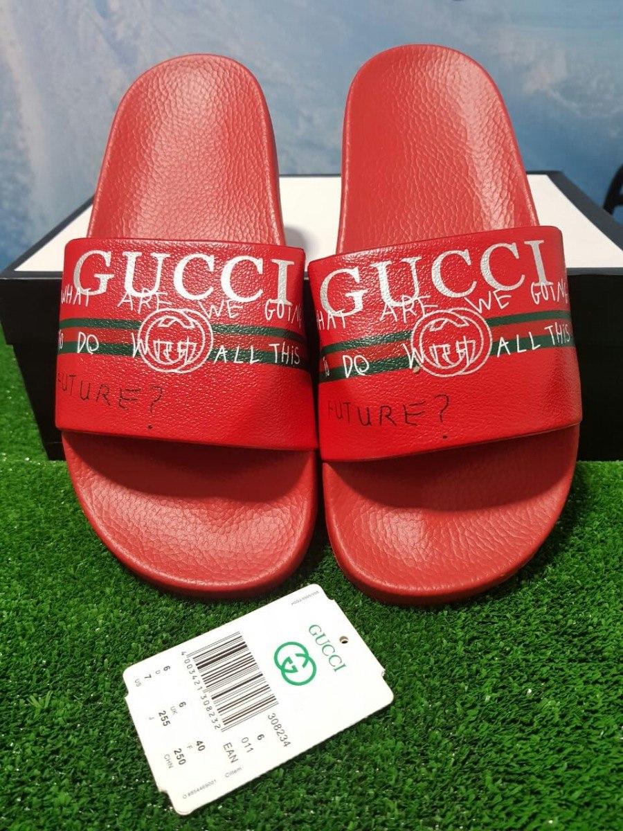 Chanclas Gucci 2018 Roja Hombre Envio Gratis -   99.900 en Mercado Libre c855cb829c1