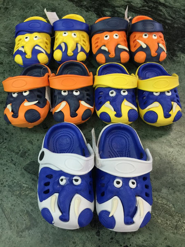 chancletas sandalias para niño y niña de elefante