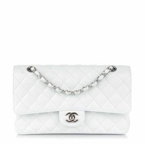 1aabc9744 Bolsa Chanel Falsa Pequena - Bolsas de Couro Branco no Mercado Livre ...