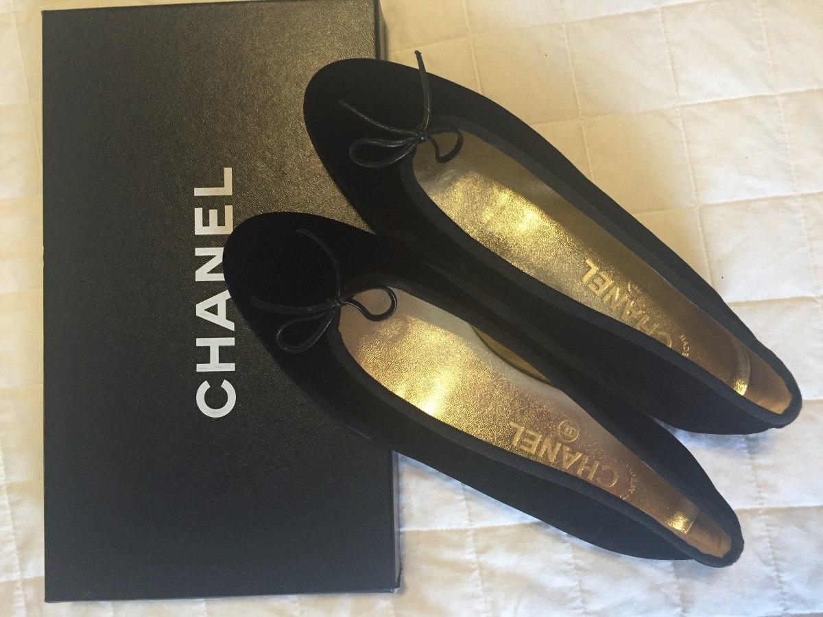 dd21a6f05 Chanel Sapatilha Preta Em Veludo......... - R$ 280,00 em Mercado Livre