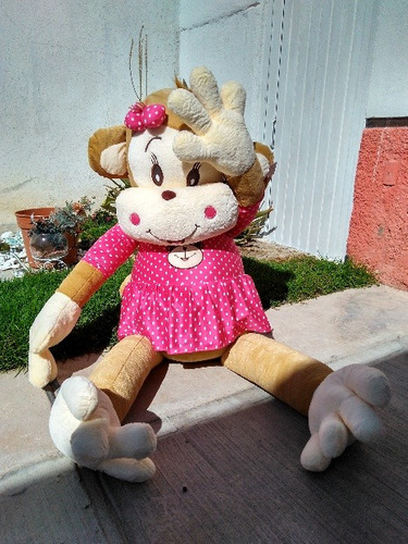 changa cuca 1.5 mts gigante de vestido rosa