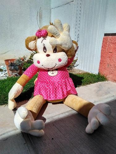 changa cuca 1.6 mts gigante de vestido rosa