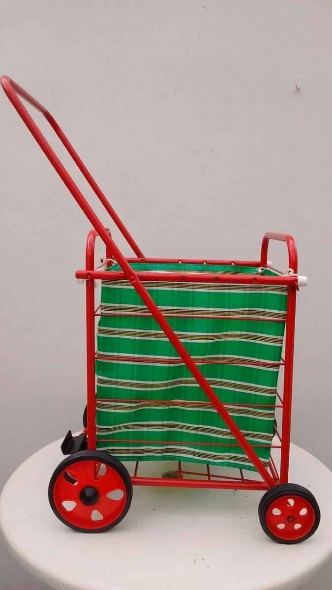 fb7a34230ed Changuito Carro De Compras 4 Ruedas C/ Freno P/evitar Caidas