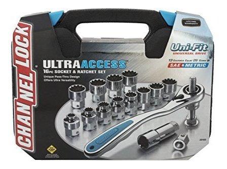 channellock 39100 ultra access socket set 16 piezas