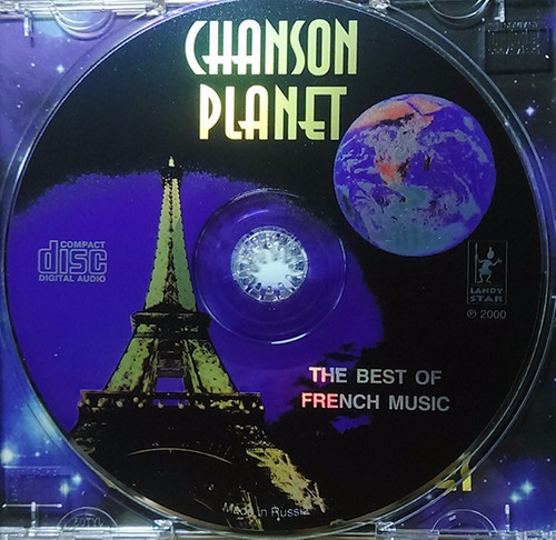 chanson planet - the best french music - cd original 2000 c2