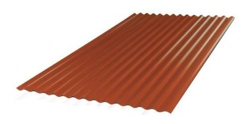 chapa acanalada color roja 0,50mm x  5,50 mts.