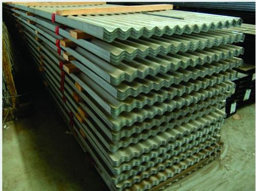 chapa acanalada galvanizada 6,50x 1,10mts cincalum la plata