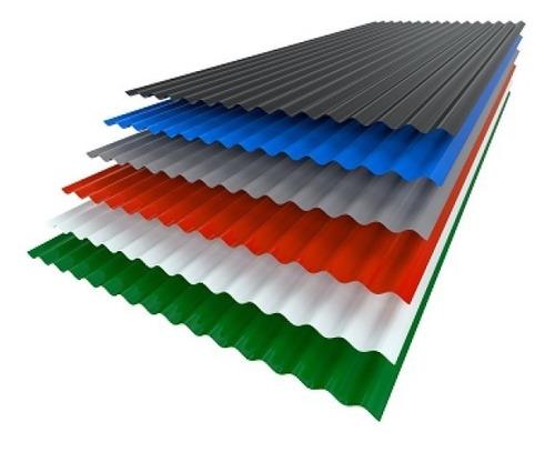 chapa acanalada para techo c25 color