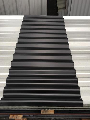 chapa acanalada prepintada color negro - por 5 metros!!