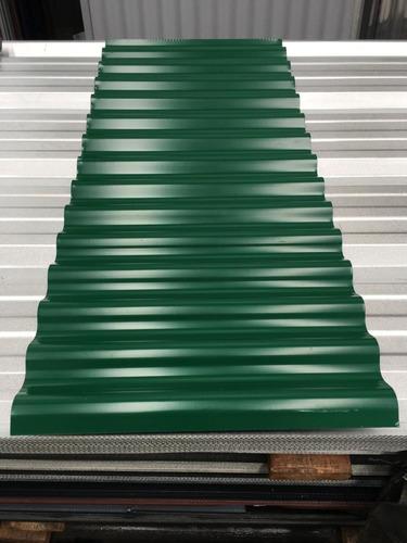 chapa acanalada prepintada color verde - por 2 metros!!