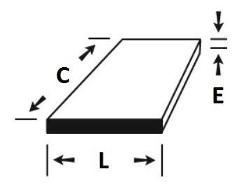 chapa aluminio 20cm x 20cm x 3/8  (9,52mm)