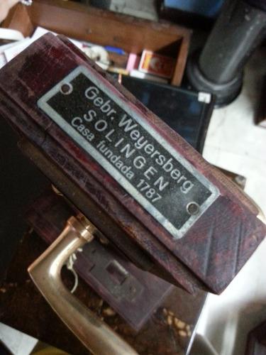 chapa antigua alemana bronce solingen 1787 llave funcionando