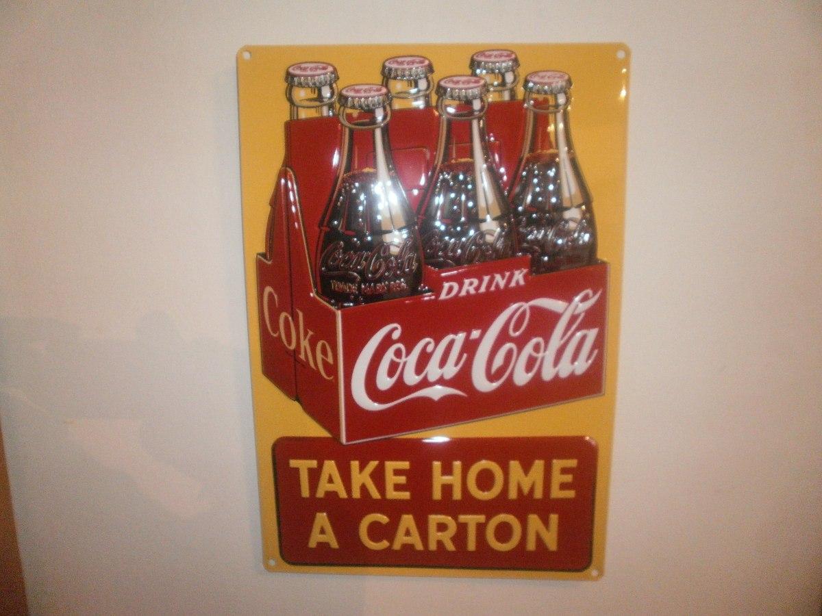 Chapa coleccion coca cola original en relieve 43x30 nueva - Chapa coca cola pared ...