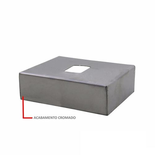 chapa cromada proteção engate reboque rabicho siena 100mm