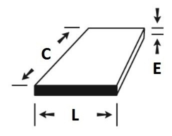 chapa de aluminio 15cm x 40cm x 5,00mm