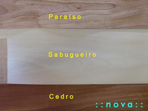 chapa de madera de sabugueiro 25 x 50 cmlámina p/ enchapar
