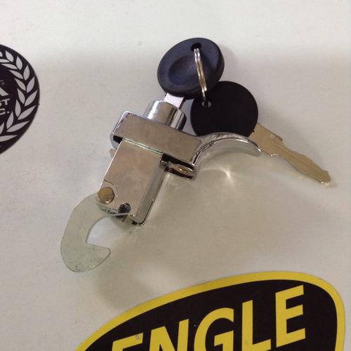chapa de motor cromada con llave 1975-1995 vocho 1 tornillo