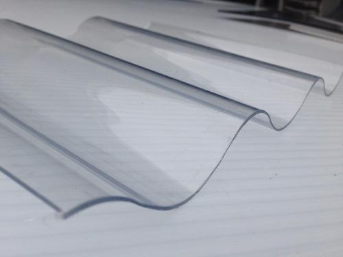 chapa de policarbonato acanalada 0,80 mm x 3 mts x 1,10 mts