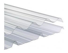 chapa de policarbonato acanalada 1 mm x 1 mt x 1,10 mts