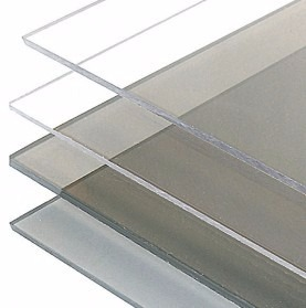 Chapa de policarbonato compacto cristal 2mts x 1mt x 1mm - Placa policarbonato transparente ...