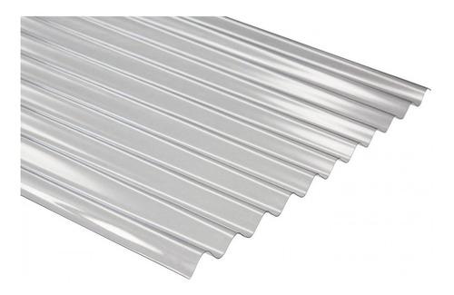chapa de policarbonato  sinusoidal 1 mm x 6 mts x 1,10 mts