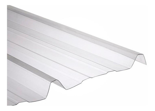 chapa de policarbonato trapezoidal 1,2 mm x 3 mts x 1,10 mts