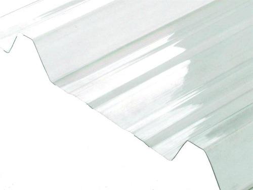 chapa de policarbonato trapezoidal 1,2 mm x 6 mts x 1,10 mts