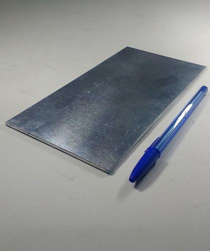 chapa em alumínio 20 cm x 20 cm x 3mm