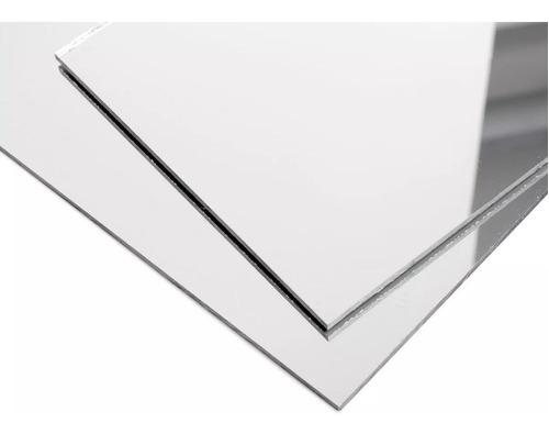 chapa espelho acrílico prata 1m x 50cm x 2mm espessura