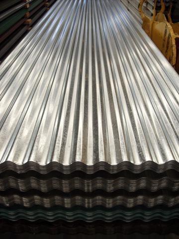 Chapa galvanizada cal 30 acana trapez ancho util 1 mt for Casetas de chapa galvanizada precios