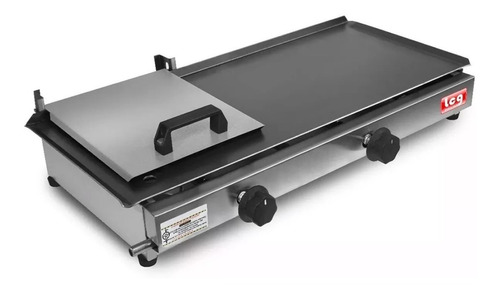chapa lanche hot dog c/ prensa 2 bocas lcg 30x60 c/ kit gás