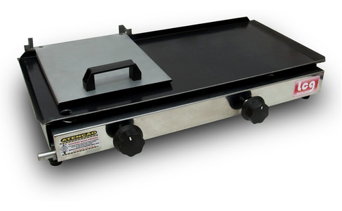 chapa lanche lcg hot dog com prensa 30x60 inox a gás 2 bocas