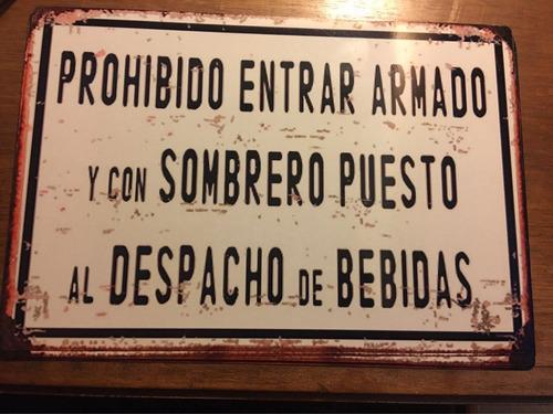 chapa no esmaltada 30 x20 vintage decoracion