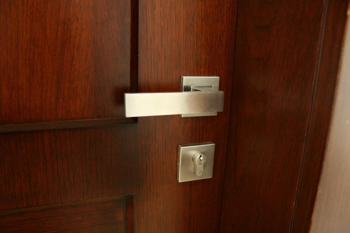 Chapa o cerradura de acero inoxidable s lido para puerta 1 en mercado libre - Cerradura de puerta de madera ...