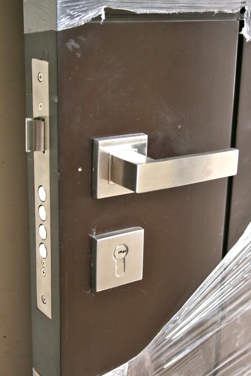 Chapa o cerradura de acero inoxidable s lido para puerta - Puerta de chapa ...