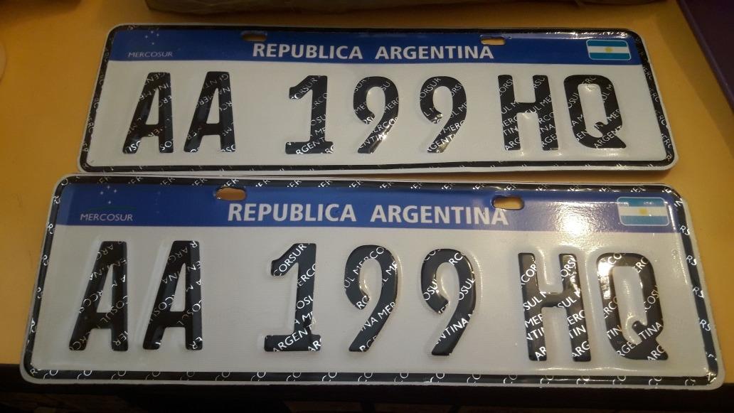 de9067b02cb02 Chapa Patente Para Auto Mercosur Aluminio Replica -   2.850,00 en ...