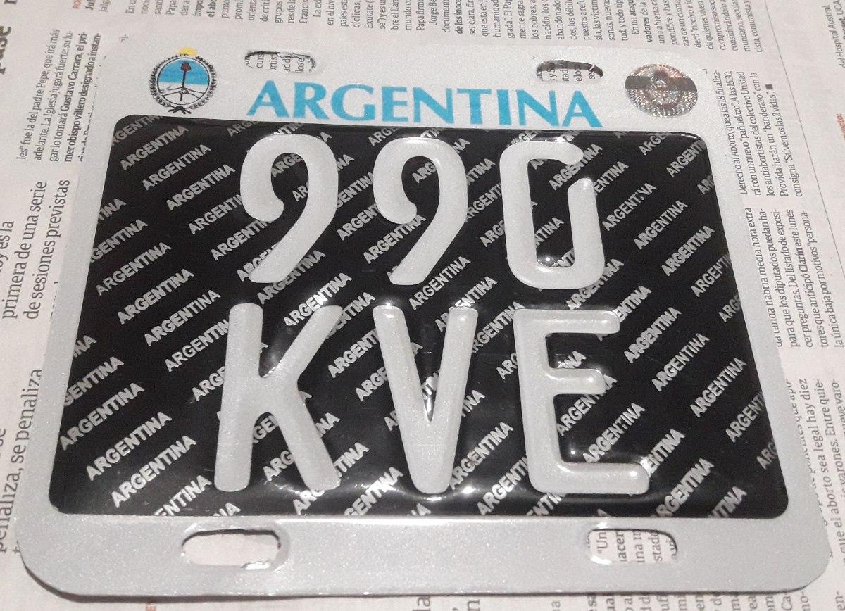 5eb58f8ecdb48 Chapa Patente Para Moto En Aluminio Replica Exacta -   2.100,00 en ...