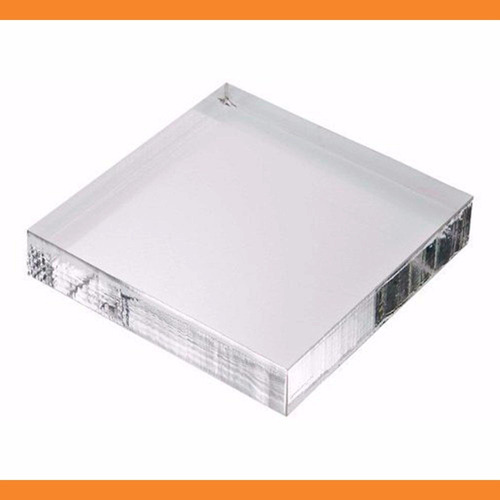 chapa placa acrílico transparente 50 cm x 50 cm x 6mm