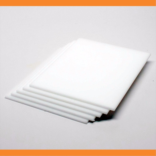 chapa placa de acrílico branco leitoso 2mm - 50 cm x 100 cm