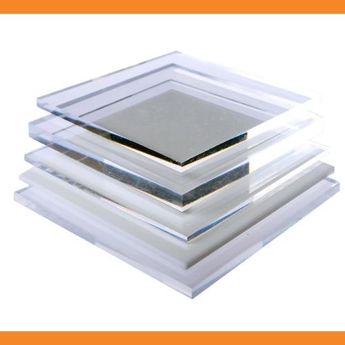 chapa placa de acrílico transparente 33 cm x 33 cm x 20 mm