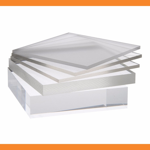 chapa placa de acrílico transparente 50 cm x 50 cm x 4mm