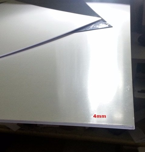 Chapa placa de ps poliestireno cor branca 4mm x 50cm x - Placa de poliestireno ...