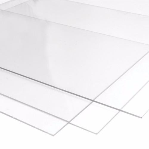 chapa placa policarbonato transparente 50 cm x 100 cm x 6mm