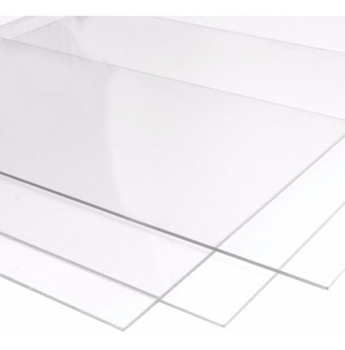 chapa placa policarbonato transparente 50 cm x 50 cm x 4mm