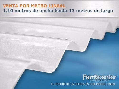 chapa plástica sinusoidal reforzada - blanca traslucida