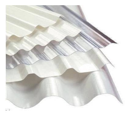 chapa plastica trapezoidal - blanca traslucida - reforzada!!