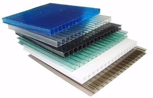 chapa policarbonato alveolar cristal 6mm x 2100 x 6000mm