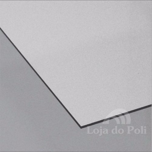 chapa policarbonato compacto cristal incolor 2mm 1,0x2,0m