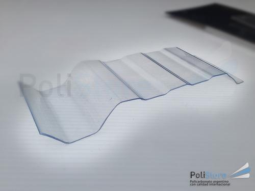 chapa policarbonato t101 trapezoidal 1.3mm xmetro lineal