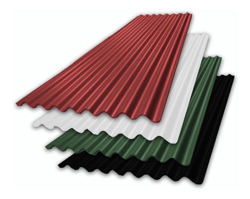 chapa p/techo color x metro acanalada o trapezoidal (t101)
